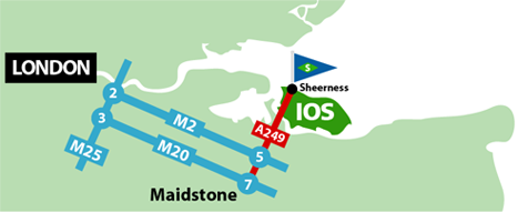 Isle Of Sheppey Road map